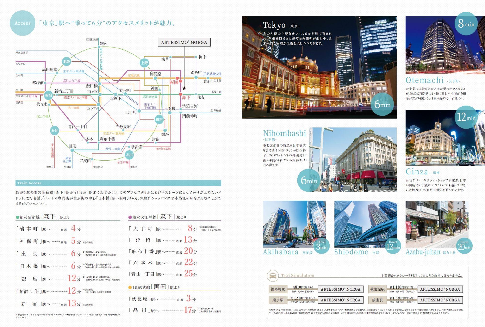 都心を貫き都内を結ぶ3路線を活用したフレキシブルなスタンス