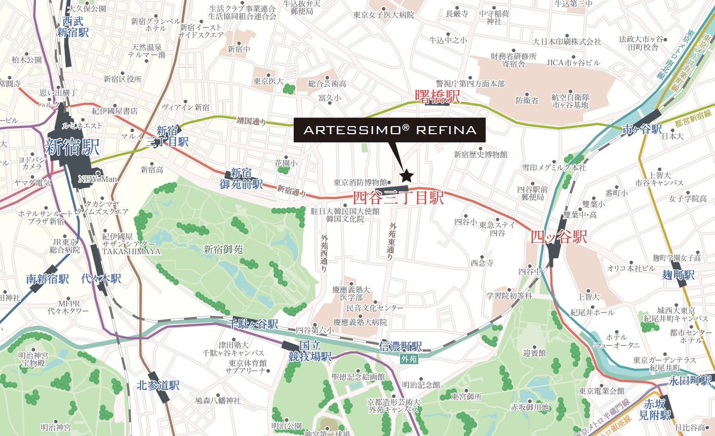 複数の駅や路線を利用して、都心や都内主要エリアへ自由自在。
