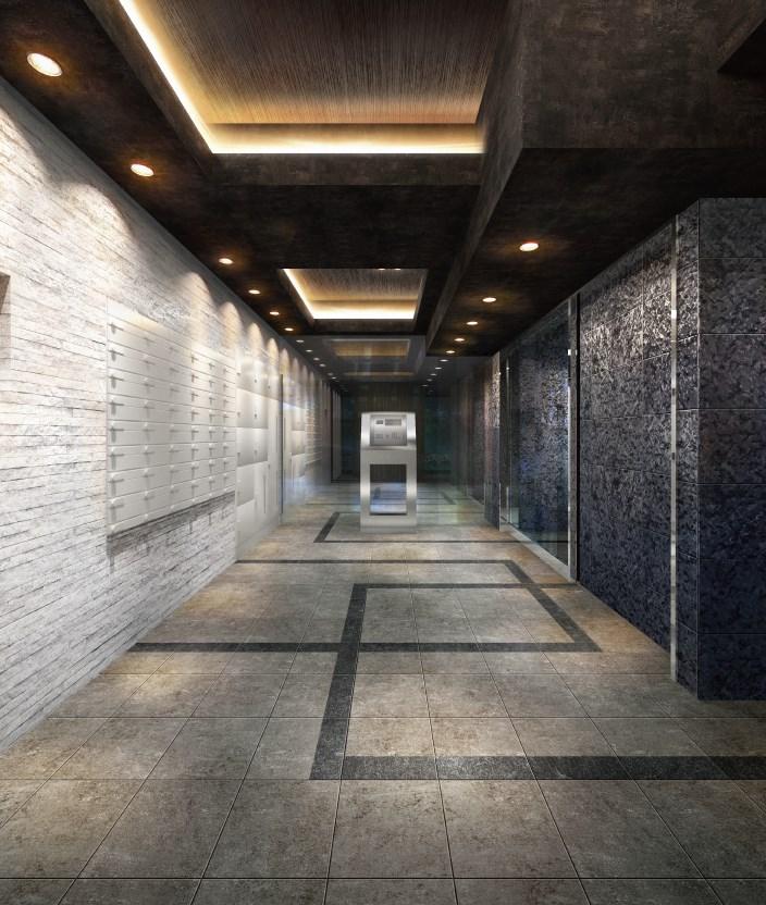 ゴージャスで気品ある石の空間が訪れる人をエスコートするエントランスホール