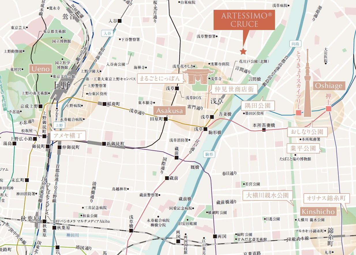 都心や3 大副都心、都内全域へ、2駅3路線でスピーディアクセス。